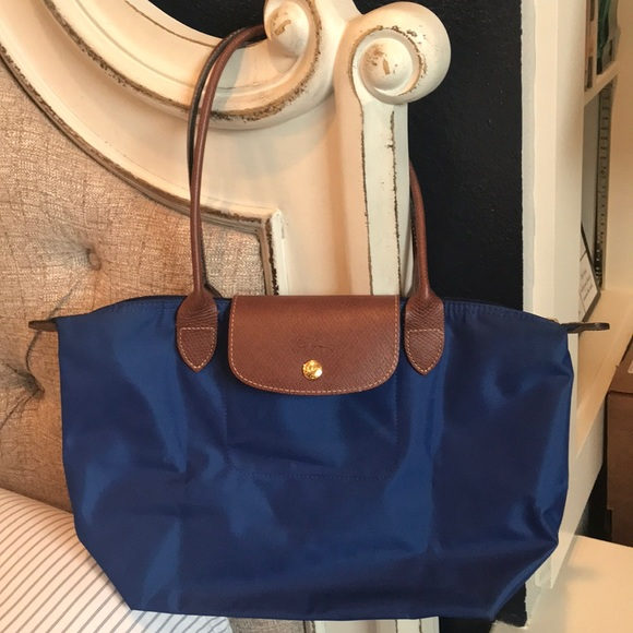 Longchamp Le Pliage tote Medium RARE ROYAL BLUE